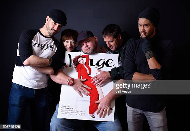"""Writer/director J.T. Mollner, actress Frances Fisher, actors Keith Loneker, Ben Browder and Chad Michael Murray from the film """"Outlaws and Angels""""..."""