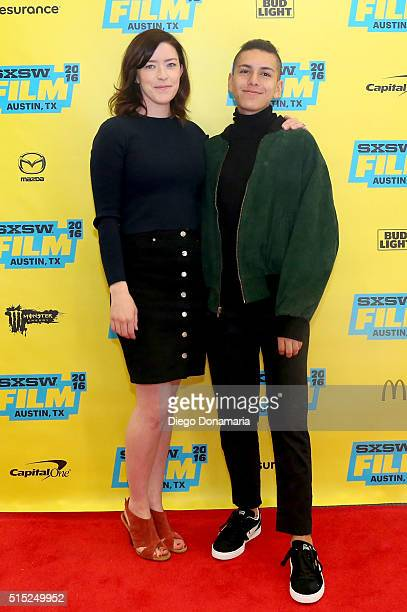 Writer/director Julia Hart and actor Anthony Quintal attend the premiere of 'Miss Stevens' during the 2016 SXSW Music Film Interactive Festival at...