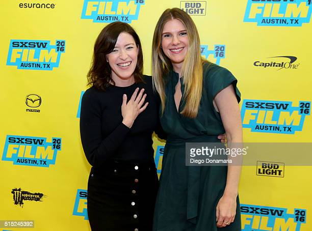 Writer/director Julia Hart and actress Lily Rabe attend the premiere of Miss Stevens during the 2016 SXSW Music Film Interactive Festival at Vimeo on...