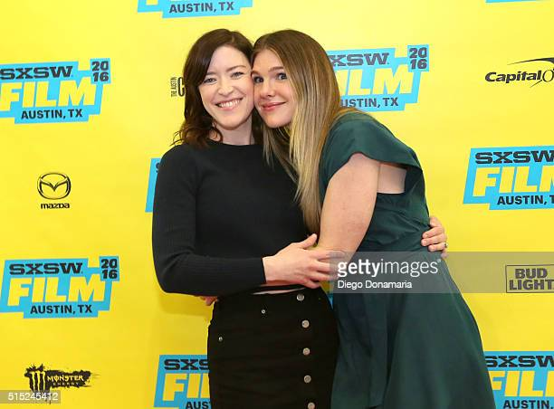 Writer/director Julia Hart and actress Lily Rabe attend the premiere of 'Miss Stevens' during the 2016 SXSW Music Film Interactive Festival at Vimeo...