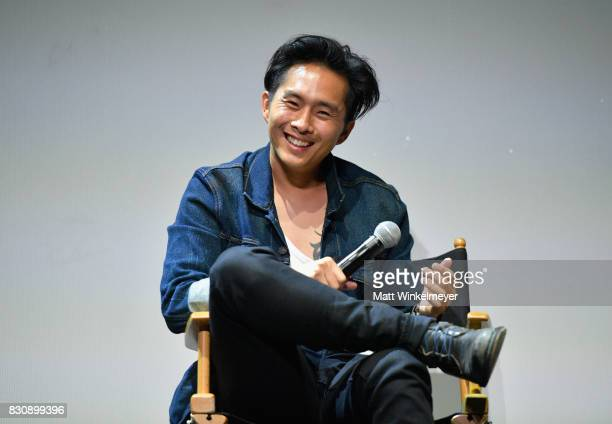 Writer/director Justin Chon speaks on stage during the 2017 Sundance NEXT FEST at The Theater at The Ace Hotel on August 12 2017 in Los Angeles...