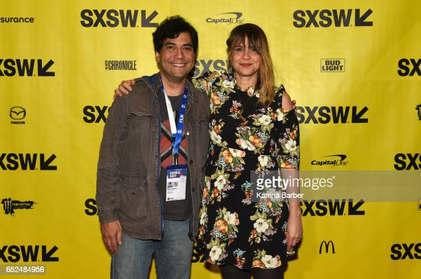 Writer/director Karen Skloss and Mike Saenz attend the premiere of The Honor Farm during 2017 SXSW Conference and Festivals at Stateside Theater on...