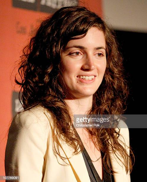 """Writer/Director Katherine Nolfi speaks onstage at the """"Upstate"""" Q&A during the 2010 Los Angeles Film Festival at Regal Cinemas at LA Live Downtown on..."""