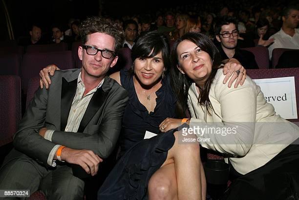Writer/director Kieran Mulroney, Los Angeles Film Festival Director Rebecca Yeldham and writer/director Michele Mulroney attend the 2009 Los Angeles...
