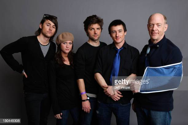 Writer/director Lee Toland Krieger actress Brittany Snow actors Adam Scott Alex Frost and JK Simmons pose for a portrait during the 2009 Sundance...