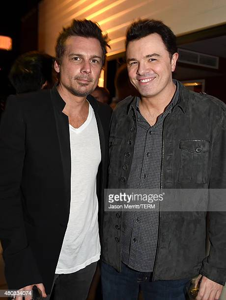 Writer/director Len Wiseman and writer/producer Seth MacFarlane attend the 20th Century Fox party during ComicCon International 2015 at Andaz Hotel...