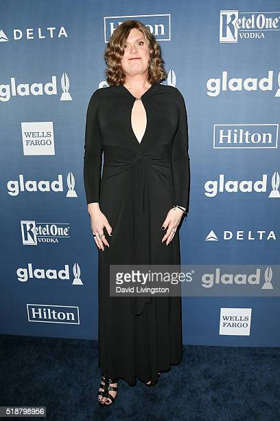 Writer/Director Lilly Wachowski arrives at the 27th Annual GLAAD Media Awards at The Beverly Hilton Hotel on April 2 2016 in Beverly Hills California