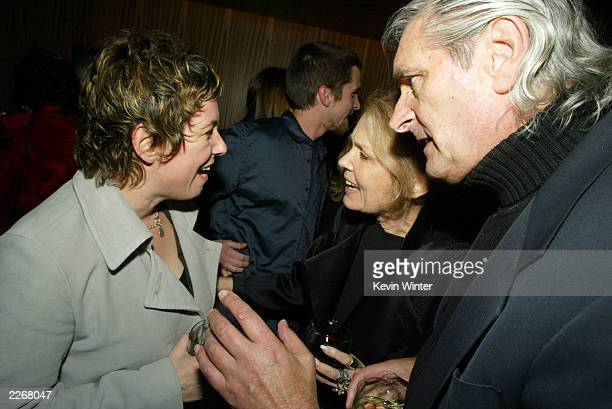 Writer/director Lisa Cholodenko talks with author Gloria Steinem and her husband David Bale at the afterparty for Laurel Canyon at The Falcon on...
