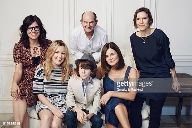 Writer/director Lisa Robinson actors Anna Margaret Hollyman Zev Haworth Ken Strunk Betsy Brandt and writer/director Annie J Howell of 'Claire In...