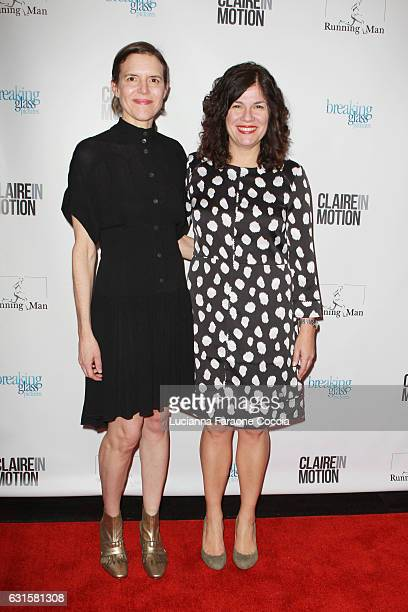 Writer/director Lisa Robinson and writer/director Annie J Howell attend the premiere of Breaking Glass Pictures' 'Claire In Motion' at Laemmle Monica...