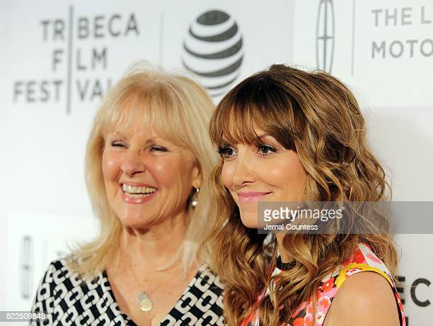 Writer/Director Lorene Scafaria and Gail Scafaria attend The Meddler Premiere at John Zuccotti Theater at BMCC Tribeca Performing Arts Center on...