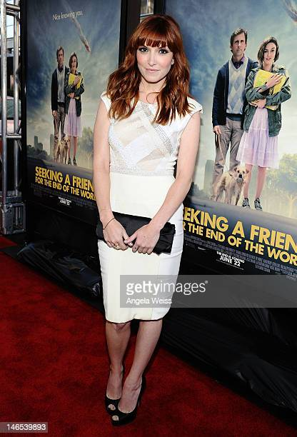 Writer/director Lorene Scafaria arrives at the premiere of 'Seeking a Friend for the End of the World' at the 2012 Los Angeles Film Festival held at...