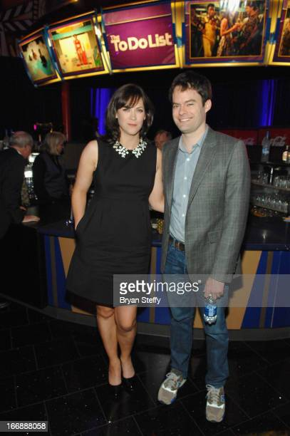 Writer/director Maggie Carey and actor Bill Hader appear during the CBS Films special screening of the 'The To Do List' at The Orleans Hotel Casino...