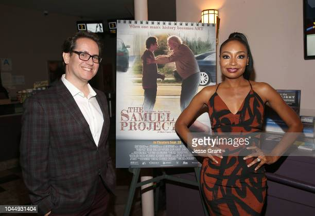 Writer/director Marc Fusco and Malina Moye attend The Samuel Project Special Screening Hosted By SAGAFTRA at Laemmle Music Hall on October 2 2018 in...