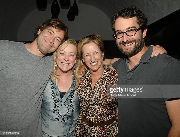 Writer/director Mark Duplass Fox Searchlight president Nancy Utley Fox president of production Claudia Lewis and writer/director Jay Duplass attend...