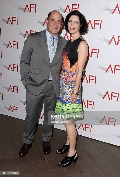 Writer-director Matthew Weiner and Linda Brettler attend the 15th Annual AFI Awards at Four Seasons Hotel Los Angeles at Beverly Hills on January 9,...