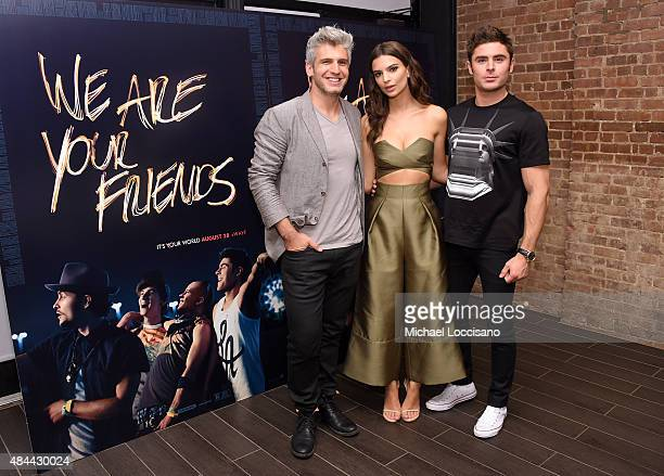 Writer/director Max Joseph actors Emily Ratajkowski and Zac Efron attend the 'We Are Your Friends' tour stop photo call and after party at the...
