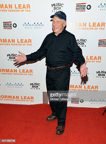"""Writer/director Mel Brooks attends the premiere of Music Box Films' """"Norman Lear: Just Another Version Of You"""" at The WGA Theater on July 14, 2016 in..."""