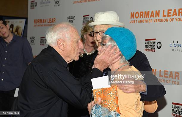 """Writer/director Mel Brooks, producer Norman Lear and actress Rita Moreno attend the premiere of Music Box Films' """"Norman Lear: Just Another Version..."""