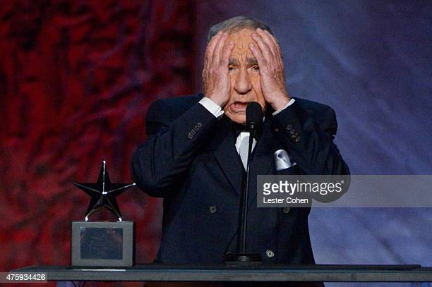 Writer/director Mel Brooks speaks onstage during the 2015 AFI Life Achievement Award Gala Tribute Honoring Steve Martin at the Dolby Theatre on June...