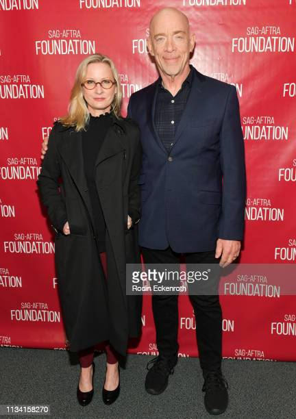Writer/director Michelle Schumacher and actor J K Simmons pose for portrait at SAGAFTRA Foundation Conversations With I'm Not Here at SAGAFTRA...