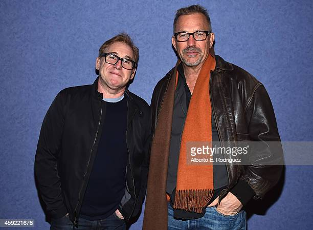 Writer/director Mike Binder and actor Kevin Costner attend the 2014 Variety Screening Series screening of 'Black or White' at ArcLight Hollywood on...