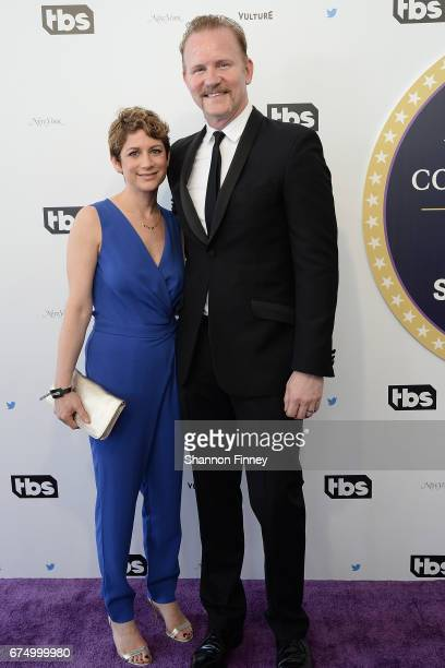 Writer/director Morgan Spurlock and his wife Sara Bernstein attend the Not the White House Correspondents' Dinner at DAR Constitution Hall on April...