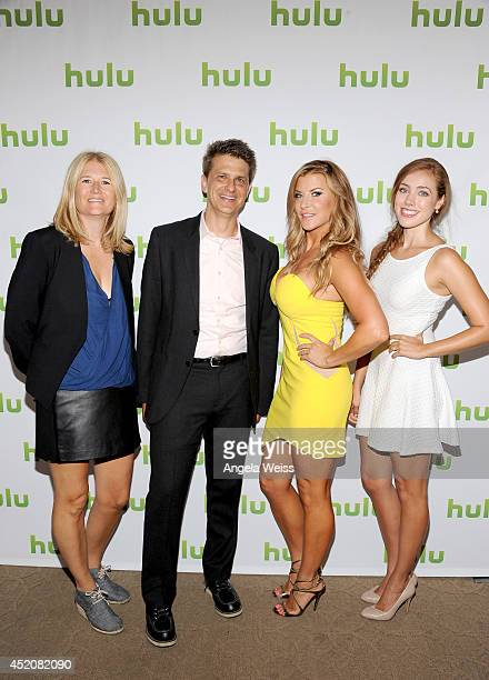 Writer/director Nancy Hower writer/actor John Lehr and actresses Allison Dunbar and Alexia Dox attend Hulu's TCA Presentation And Cocktail Party at...