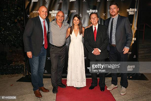 Writer/director ND Wilson cast members Bas Rutten Raleigh CainTommy Cash and producer Aaron Rench attend The Nashville Premiere of 'The River Thief'...