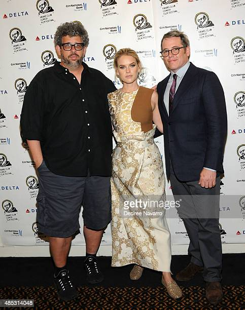 Writer/Director Neil LaBute actress Alice Eve and actor Matthew Broderick attend The Friars Club Presents An Evening With 'Dirty Weekend' at The...