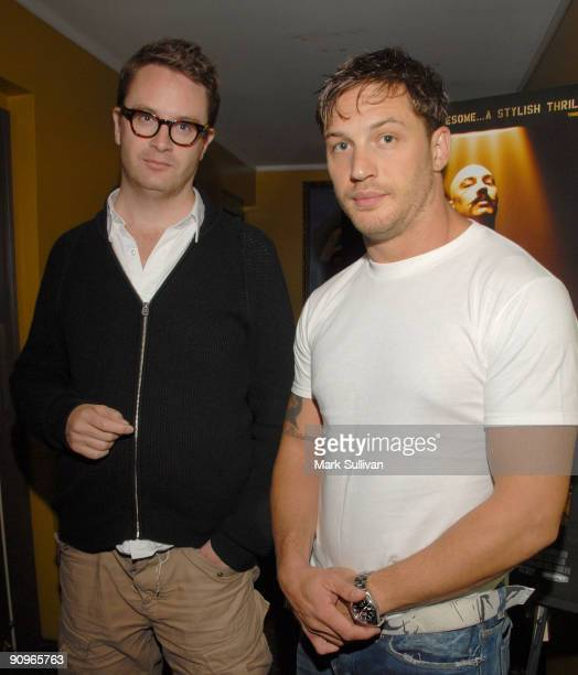 Writer/director Nicolas Winding Refn and actor Tom Hardy at a special screening of Magnet Releasing's 'Bronson' at Silent Movie Theatre on September...