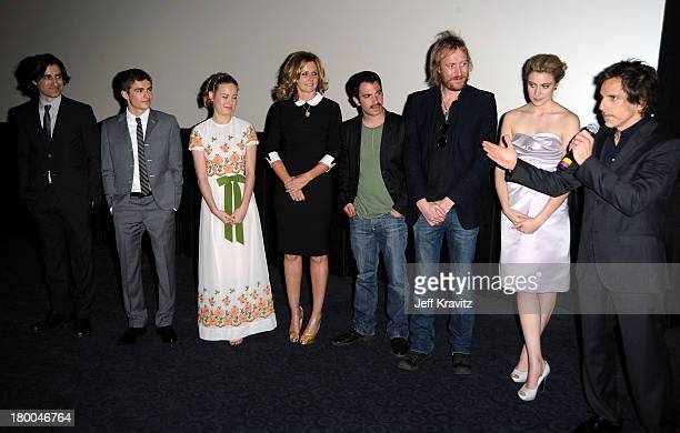 Writer/director Noah Baumbach actors Dave Franco Susan Traylor Chris Messina Rhys Ifans Greta Gerwig and Ben Stiller attend the premiere of Greenberg...