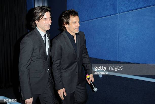 Writer/director Noah Baumbach and actor Ben Stiller the premiere of Greenberg presented by Focus Features at ArcLight Hollywood on March 18 2010 in...