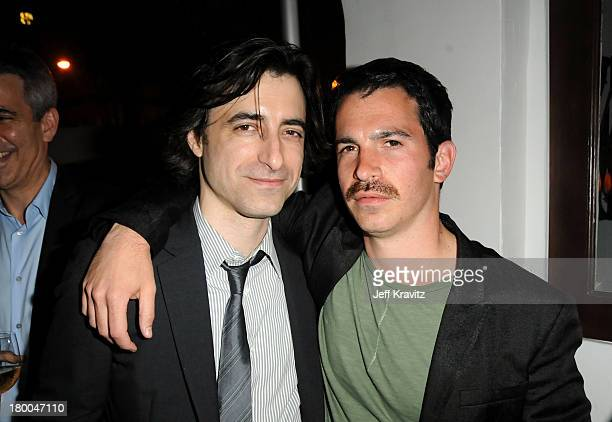 Writer/director Noah Baumbach and actor Chris Messina attend the after party for the premiere of Greenberg presented by Focus Features at La Vida on...
