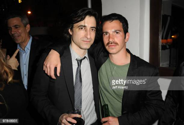 Writer/director Noah Baumbach and actor Chris Messina attend the after party for the premiere of 'Greenberg' presented by Focus Features at La Vida...