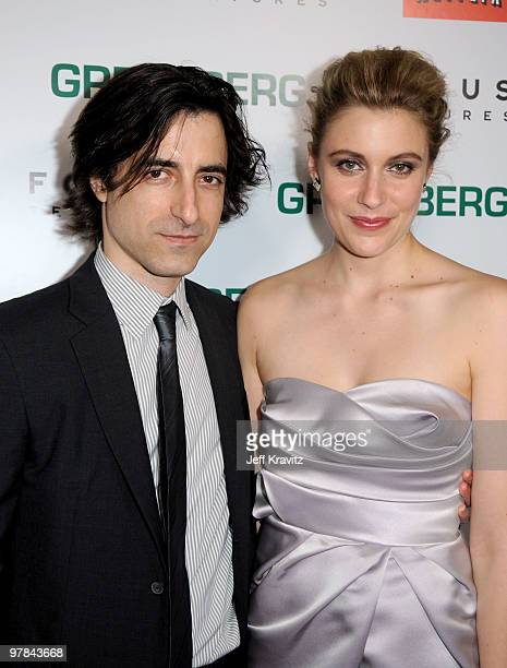 Writer/director Noah Baumbach and actress Greta Gerwig arrive at the premiere of Greenberg presented by Focus Features at ArcLight Hollywood on March...
