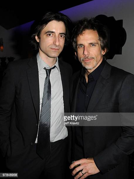 Writer/director Noah Baumbach and Ben Stiller attend the after party for the premiere of Greenberg presented by Focus Features at La Vida on March 18...