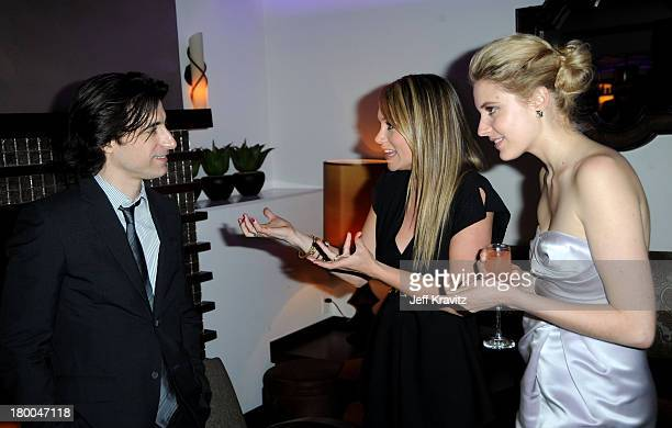 Writer/director Noah Baumbachactresses Christine Taylor and Greta Gerwig attend the after party for the premiere of Greenberg presented by Focus...