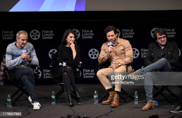 Writer/director Olivier Assayas Penelope CruzEdgar Ramirez and producer Rodrigo Teixeira attend the 57th New York Film Festival Wasp Network Press...