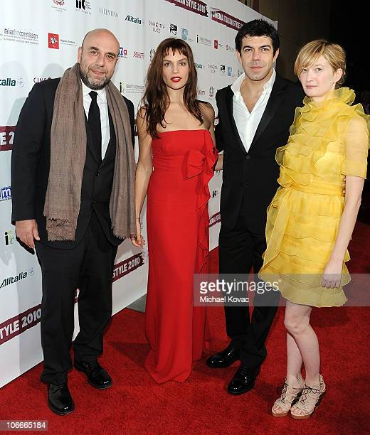 Writer/director Paolo Virzi actress Micaela Ramazzotti actor Pierfrancesco Favino and actress Alba Rohrwacher attend the Cinema Italian Style Opening...