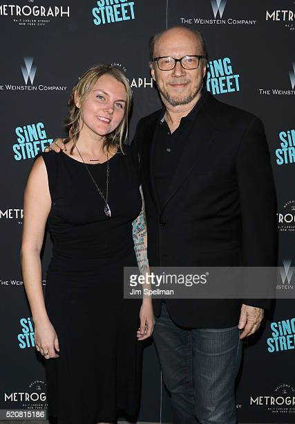 Writer/director Paul Haggis and daughter Alissa Sullivan attend the premiere of 'Sing Street' hosted by The Weinstein Company at Metrograph on April...