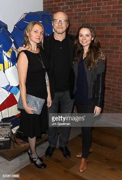 Writer/director Paul Haggis daughter Alissa Sullivan and guest attend The Weinstein Company hosts the premiere of 'Sing Street' after party at Hotel...