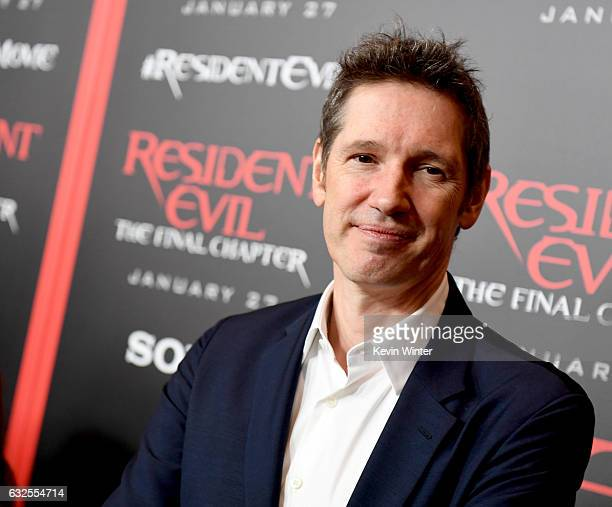 Writer/director Paul WS Anderson arrives at the premiere of Sony Pictures Releasing's Resident Evil The Final Chapter at the Regal LA Live Theatres...