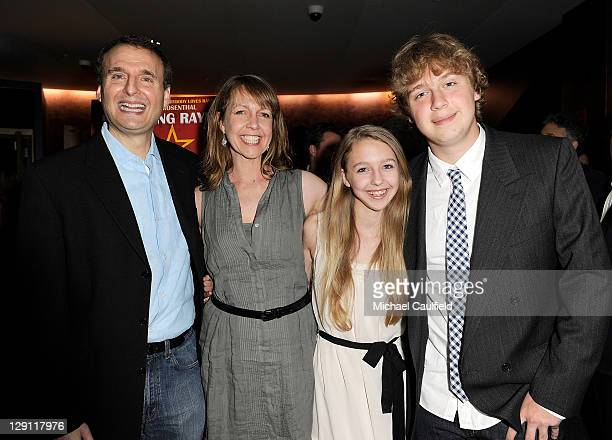 Writer/director Phil Rosenthal actress Monica Rosenthal Lily Rosenthal and Ben Rosenthal attend the Los Angeles Premiere of Exporting Raymond at the...