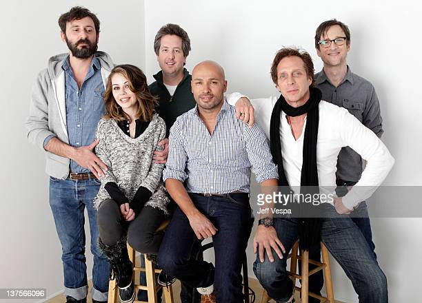 Writer/director Quentin Dupieux and actors Alexis Dziena Steve Little Eric Judor William Fichtner and Jack Plotnick pose for a portrait during the...