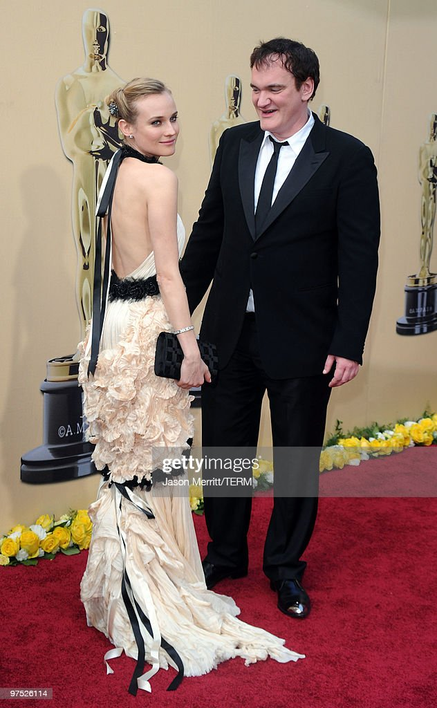 Writer/director Quentin Tarantino and actress Diane Kruger arrives at the 82nd Annual Academy Awards held at Kodak Theatre on March 7, 2010 in Hollywood, California.