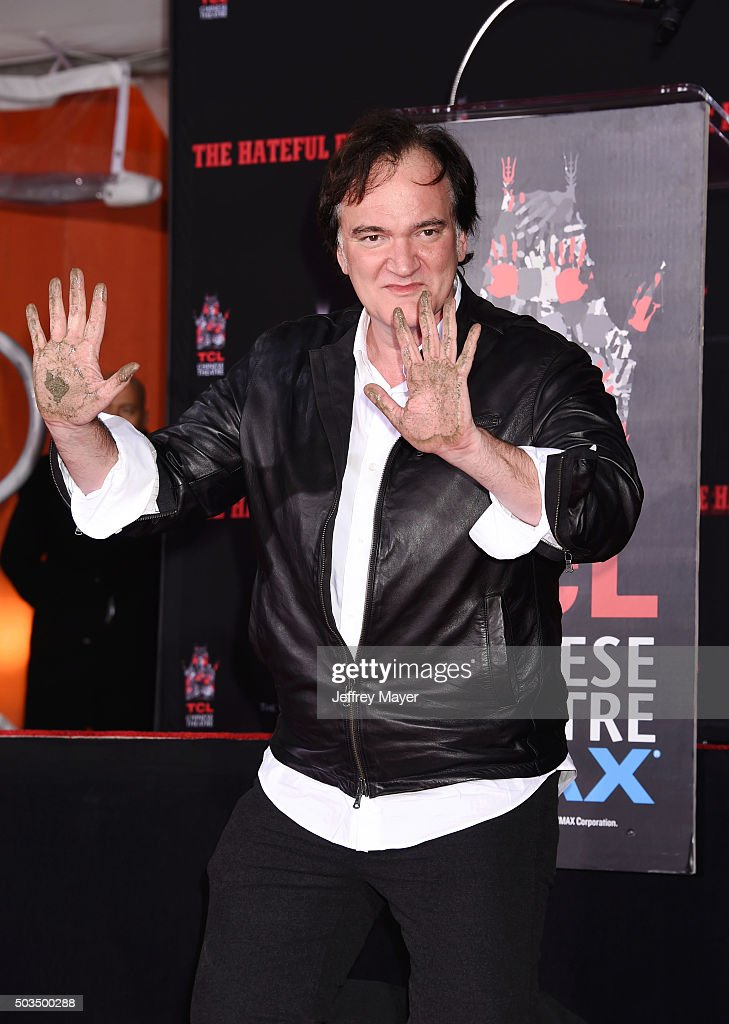 Writer/director Quentin Tarantino attends the Quentin Tarantino Hand And Footprint Ceremony at the TCL Chinese Theater on January 5, 2016 in Hollywood, California.