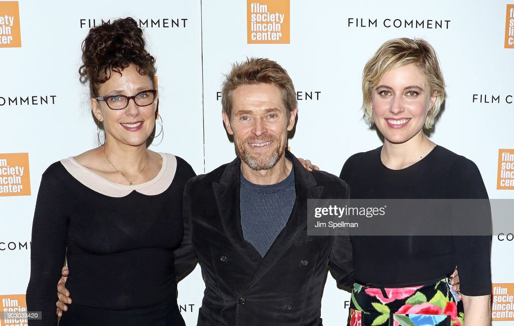 Writer/director Rebecca Miller, actor Willem Dafoe and director/actress Greta Gerwig attend the 2018 Film Society of Lincoln Center and Film Comment luncheon at Lincoln Ristorante on January 9, 2018 in New York City.