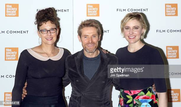 Writer/director Rebecca Miller actor Willem Dafoe and director/actress Greta Gerwig attend the 2018 Film Society of Lincoln Center and Film Comment...
