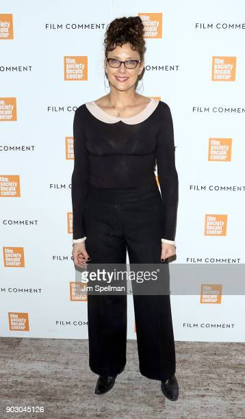 Writer/director Rebecca Miller attends the 2018 Film Society of Lincoln Center and Film Comment luncheon at Lincoln Ristorante on January 9 2018 in...